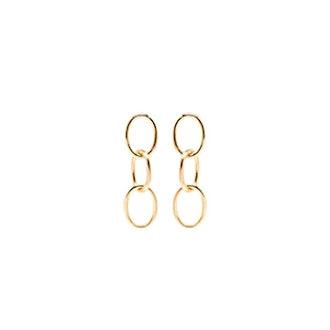 14K Chain Link Earrings
