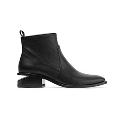 Alexander Wang Kori Cutout Leather Ankle Boots