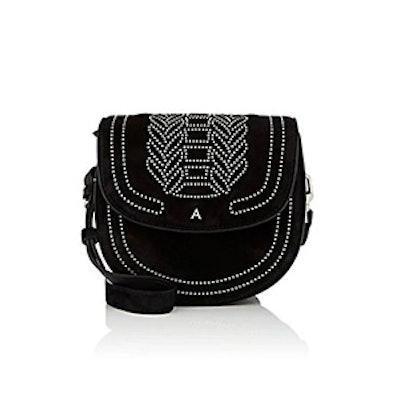 Ghianda Small Suede Saddle Bag