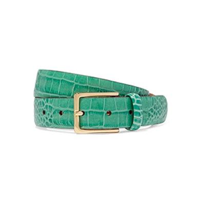 Anderson's Croc-Effect Leather Belt