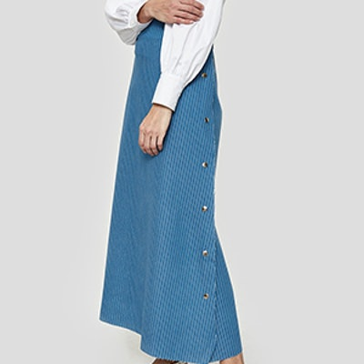 Snap Striped Skirt