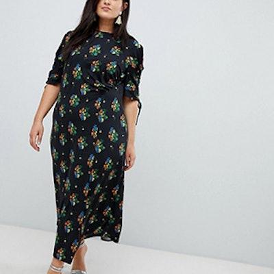 Curve City Maxi Tea Dress With Split