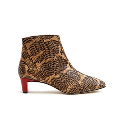 ATP Atelier Clusia Ankle Boot in Almond Printed Snake