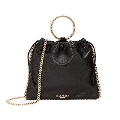 Black Leather B-Link Bracelet Backpack