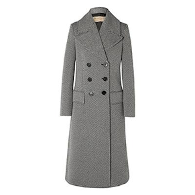 Burberry Herringbone Wool-Blend Tweed Coat