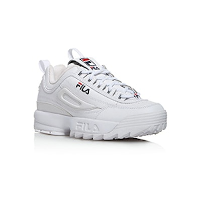 Fila Sport Disruptor II Premium Lace Up Leather Dad Sneakers
