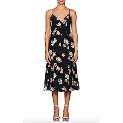 FiveSeventyFive Floral Silk Crêpe De Chine Midi-Dress