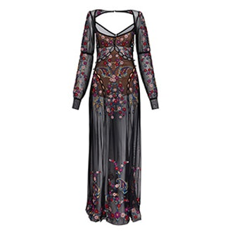 Ester Embroidery Maxi Dress