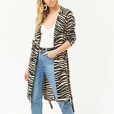 Tiger Print Duster Jacket