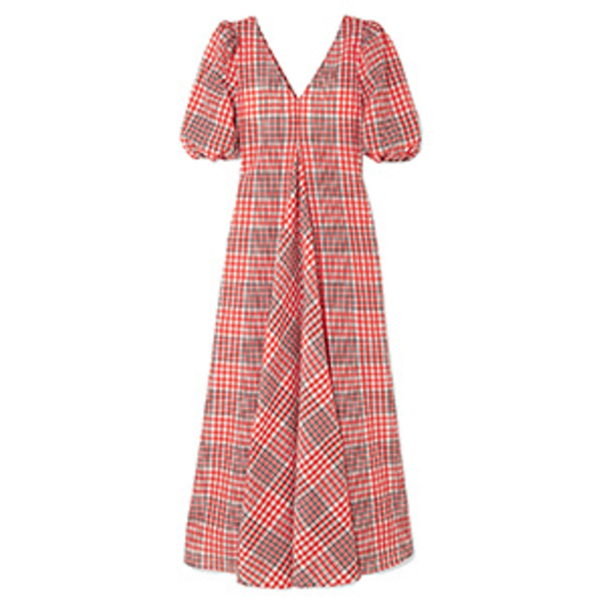 Checked Cotton-Blend Seersucker Maxi Dress