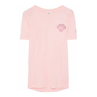 Embroidered Printed Jersey T-Shirt