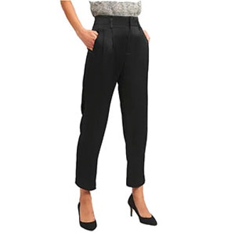 Pleated Trousers In Satin