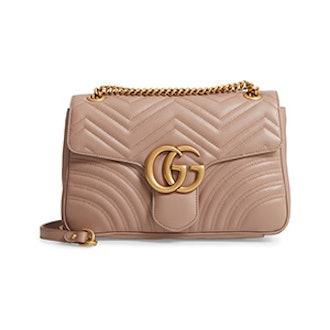 Medium GG Marmont 2.0 Matelassé Leather Shoulder Bag