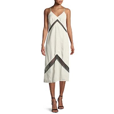 Sleeveless Lace Slip Midi Dress