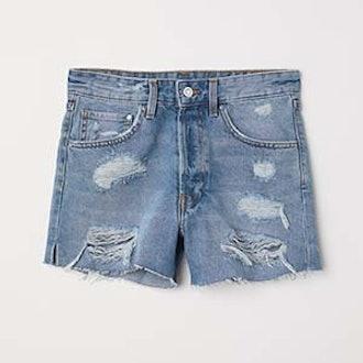 Mom Fit Denim Shorts