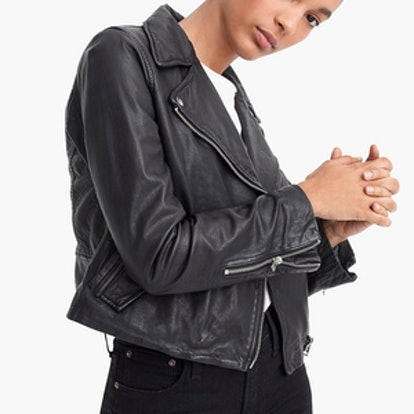 Collection Washed Leather Motorcycle Jacket