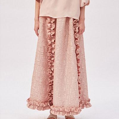 Daisy Ruffle Maxi Skirt