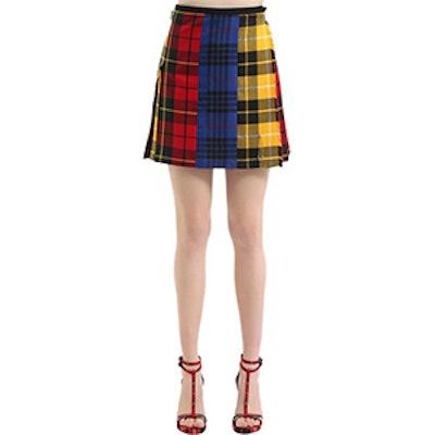 Mix & Match Wool Plaid Skirt