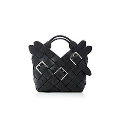 Mini Woven Buckle Leather Basket Bag