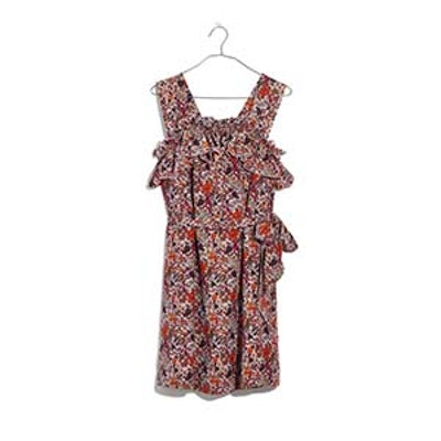 Silk Floral Rosalie Ruffled Dress