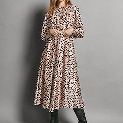 Limited Edition 100% Silk Polka Dot Print Dress