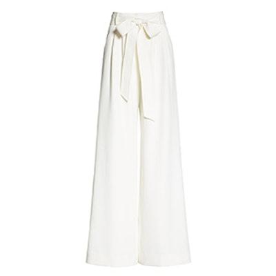Italian Cady Trapunto Tie Waist Trousers
