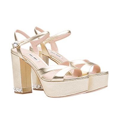 Nappa Leather Platform Sandals