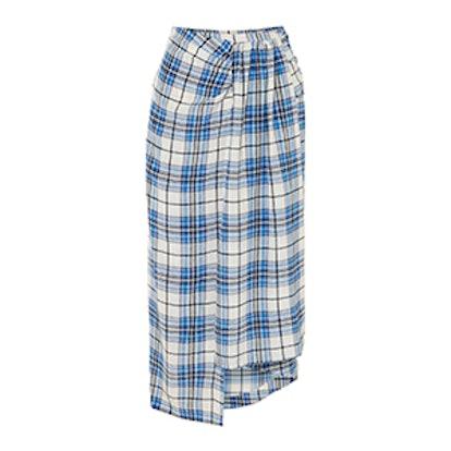 Paper London Sivan Checked Midi Skirt
