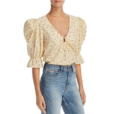 Petersyn Alexis Puff-Sleeve Top