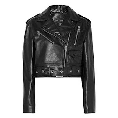 Proenza Schouler Cropped Leather Biker Jacket
