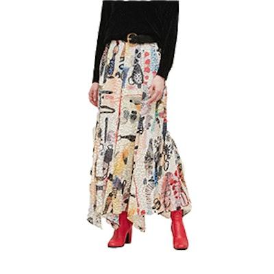 Mina Skirt in Multi Emma Burn Out
