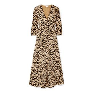 Katie-Leopard Print Silk-Crepe Dress