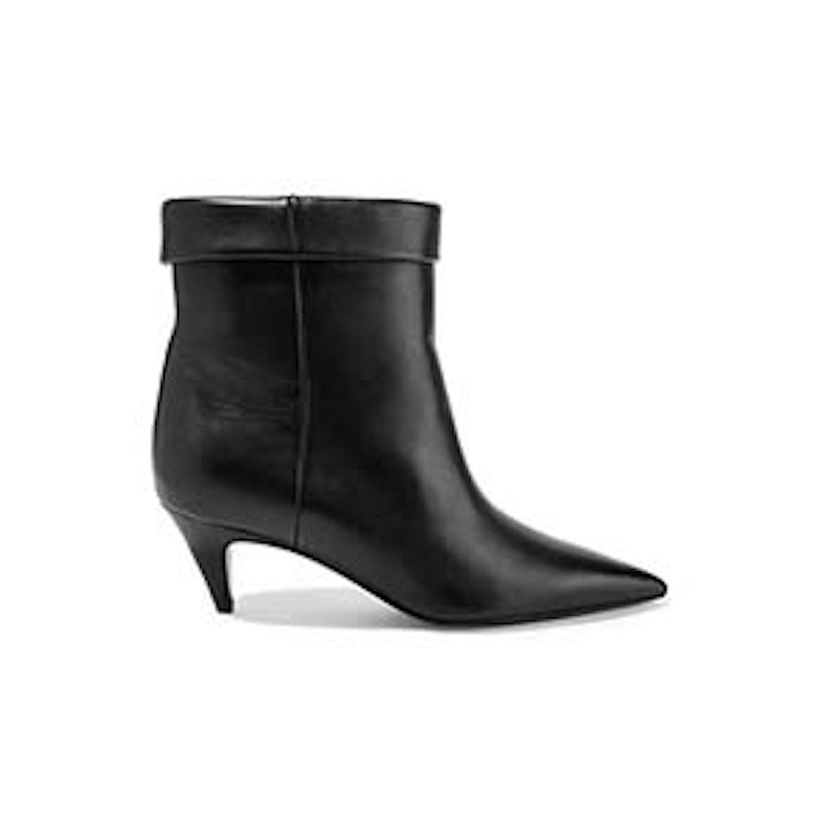 Saint Laurent Charlotte Leather Ankle Boots