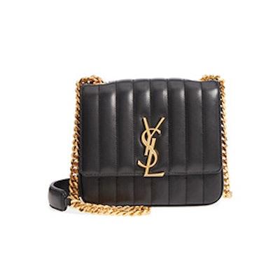 Medium Vicky Matelassé Leather Shoulder Bag