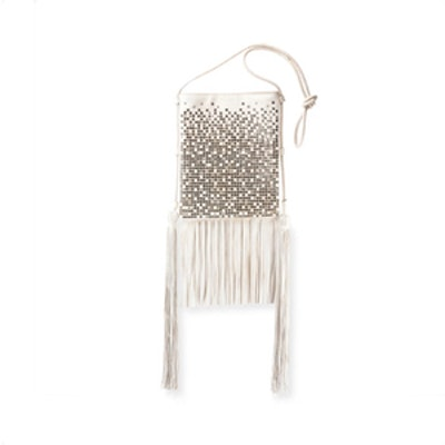 Tanger Medium Flat Studded Fringe Crossbody Bag