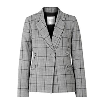 Sea Bacall Checked Woven Blazer
