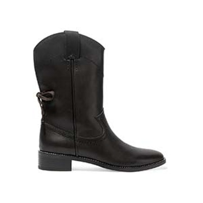 See by Chloe Salvador Leather Ankle Boots