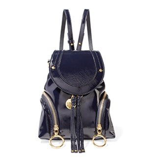 See by Chloe Olga Small Patent-Leather Backpack