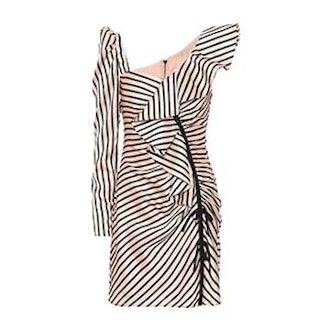 Striped One-Shoulder Minidress