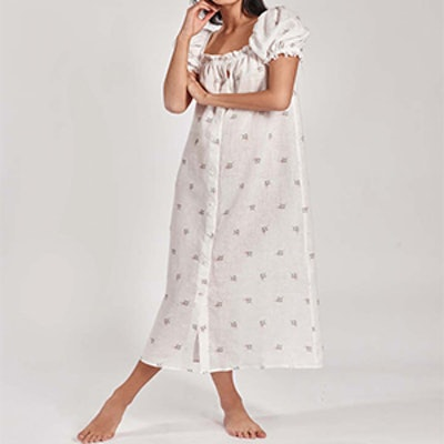 Brigitte Flower Print Maxi Dress