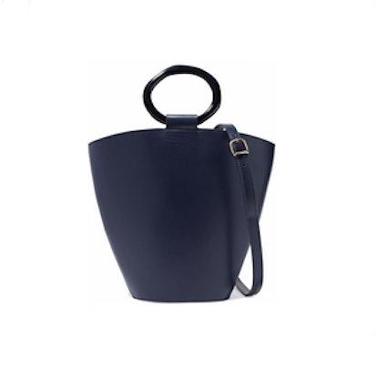 SebergCroc-Effecr Leather Shoulder Bag