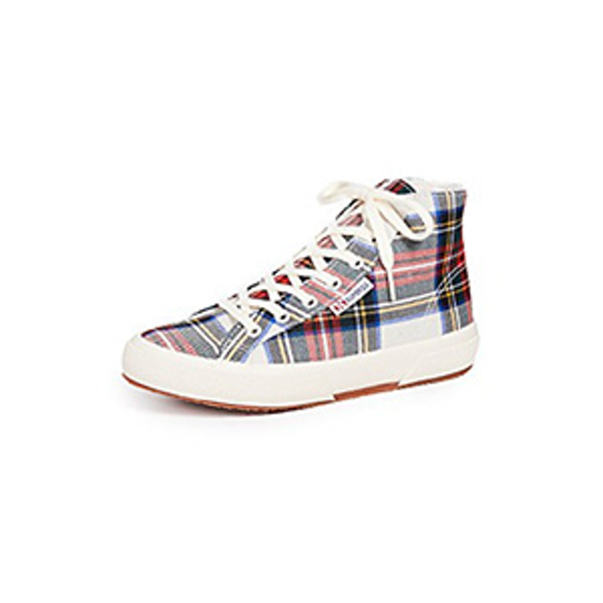 2795 Tartan High Top Sneakers