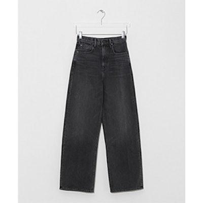 Grey-Aged Crush Wide Leg Jean