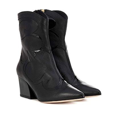 Flex Leather Cowboy Boots