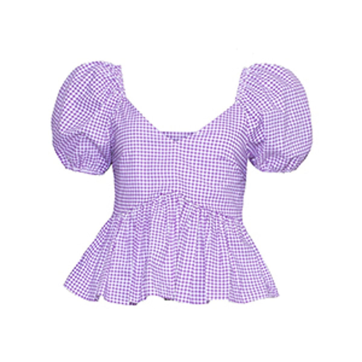 Lavender Gingham Top