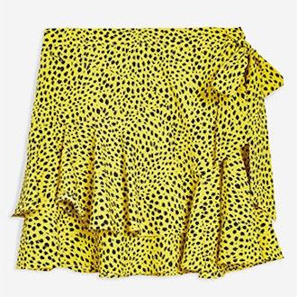 Animal Magic Ruffle Mini Skirt