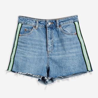 Side Stripe Mom Shorts