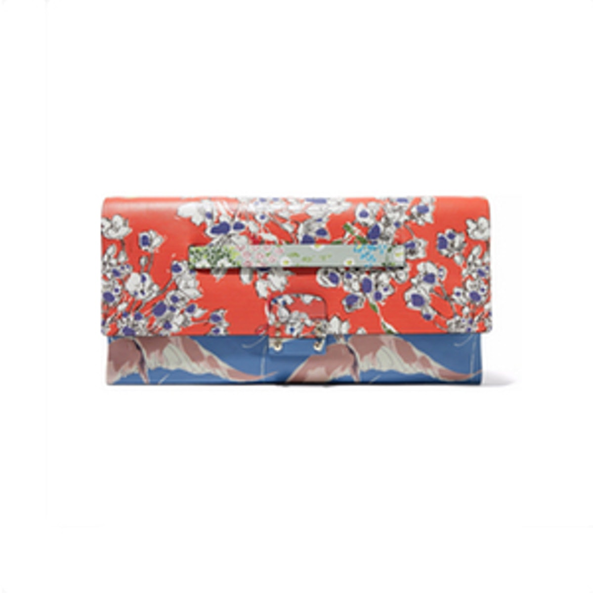 Mime Printed Leather Clutch