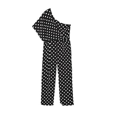 Polka-Dots Asymmetric Jumpsuit