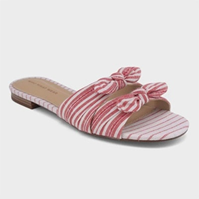 Women's Florence Striped Bow Slide Sandals